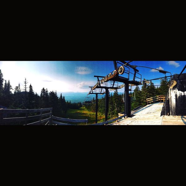 The best view comes after the hardest climb. BrysonTiller Northeastkingdom Skiresorttown Skiresort Greenmountainstate Greenmountain Hiking Chairlift View Chairlift No People Day Sky Industry Outdoors Clear Sky