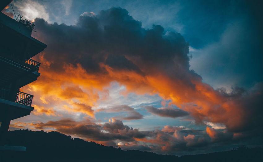 EyeEmNewHere Cloud - Sky Dramatic Sky Nature Orange Color Outdoors Sky Sunset