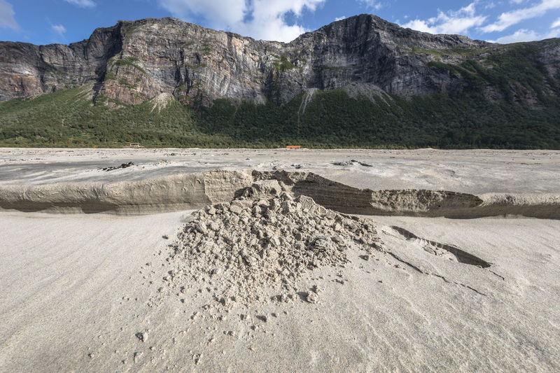 """Sandslide"" on a beach against steep rock face Landslide Low Angle View RISK Rock Face Rock Formation Beach Beauty In Nature Beauty In Nature Cliff Cloud - Sky Day Forest Landscape Mountain Mountain Range Nature No People Nordland County Outdoors Rock - Object Sand Scenics - Nature Steep Summer Wide Angle"