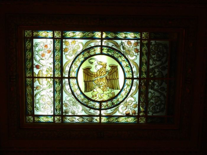 Escudo Nacional History Vitrals Window Indoors  No People Built Structure Day Architecture Close-up