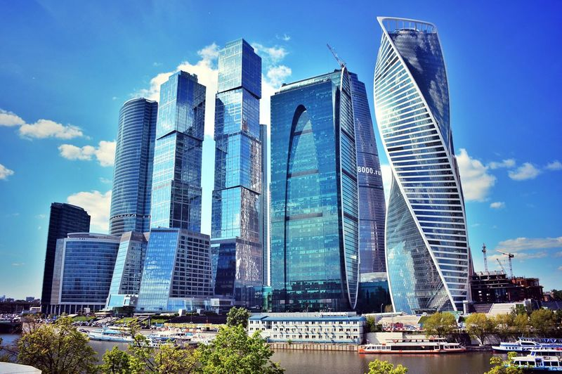 Architecture Built Structure Skyscraper Building Exterior Modern Tall - High Sky City Low Angle View Tower Day Outdoors Travel Destinations Cloud - Sky No People Blue Cityscape Tall Urban Skyline