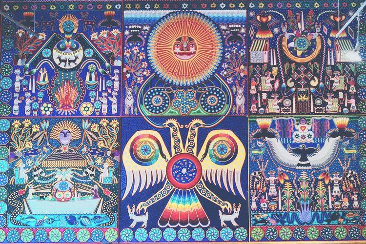 Huichol Arte Mexican Art Colors