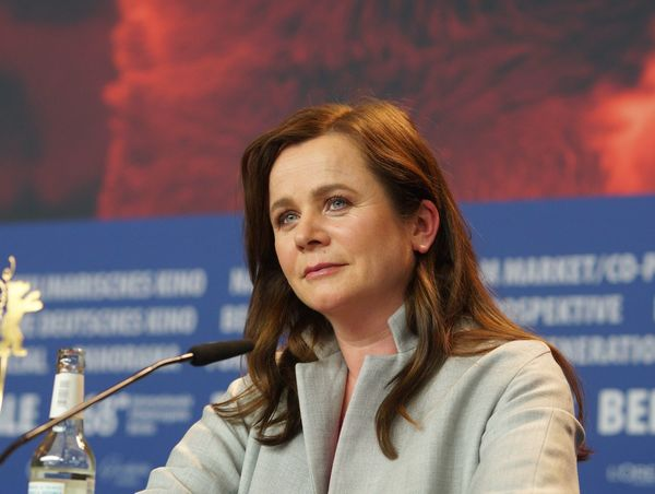 Berlin, Germany - February 17, 2018: English actress Emily Watson attend the 'The Happy Prince' press conference during the 68th Berlinale Festival 2018 Artist Fame Famous Film Festival Interview Photocall Press The Media Arts Culture And Entertainment Berlinale Berlinale 2018 Berlinale2018 Close-up Entertainment Entertainment Event Film Industry Gala Headshot Mass Media One Person Popular Posing Press Conference Red Carpet Red Carpet Event