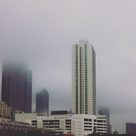 Stand still Buildings Skyscrapers Cloud After The Rain