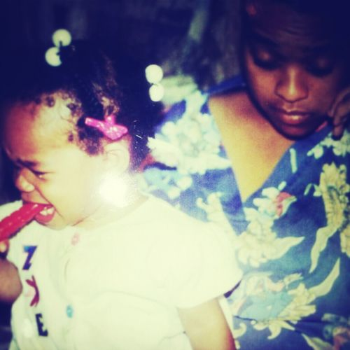 #Tbt mommy nd daughter time #didntGoThatWell