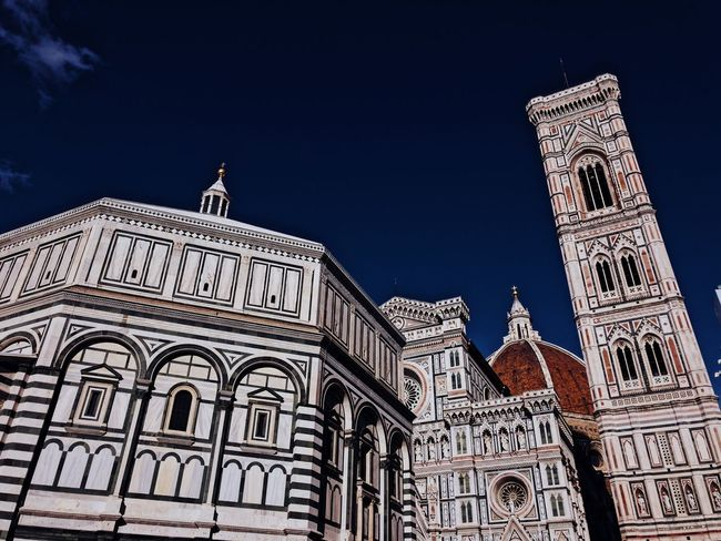 4 in a row Florence Italy Firenze Italia Cityscape Architecture Built Structure Building Exterior Low Angle View Sky Building The Past History City Travel Destinations Travel Tourism Religion Nature Art And Craft Spirituality No People Clear Sky