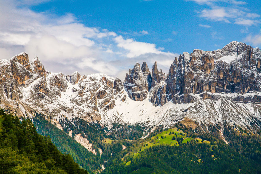 Beauty In Nature Catinaccio Cloud - Sky Cold Temperature Day Environment Idyllic Landscape Marco Vittorio Marco Vittorio Photography Mountain Mountain Peak Mountain Range Nature No People Outdoors Rosengarten Scenics - Nature Sky Snow Snowcapped Mountain Top Photos Top Views Tranquil Scene Tranquility
