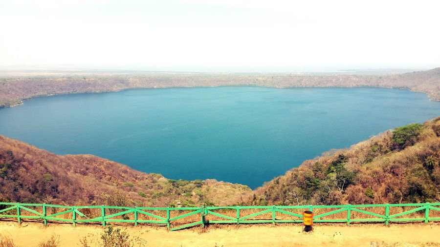 Scenic view of lake against clear sky at mirador de catarina