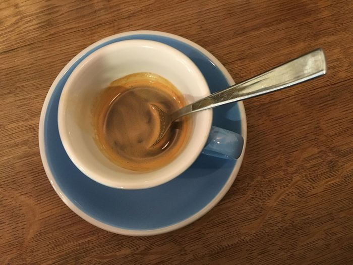 Espresso Father Carpenter Espresso Drink Refreshment Table Food And Drink Saucer Coffee Cup High Angle View Coffee - Drink No People