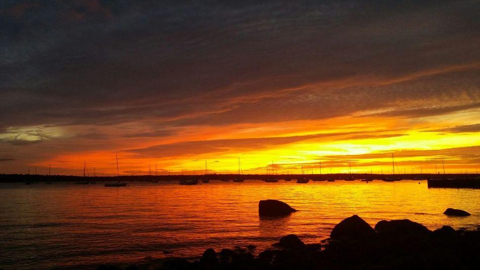 Sunset Blazingsky Neds Point Mattapoisett Má Myhappyplace