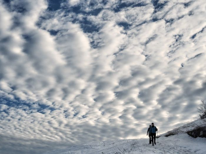 Italy Outdoors Hiking Mountain Snow Winter Adventure Sport Silhouette Men Sunlight Sky Cloud - Sky Ski Holiday Dramatic Sky