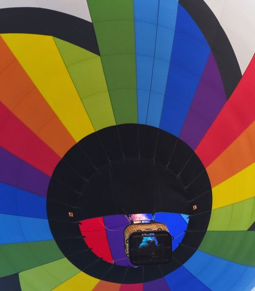 Hot Air Balloon Multi Colored Flying Air Vehicle Adventure Sport Outdoors Day Ballooning Festival Eyeemphotography Texas Photographer The Great Outdoors - 2017 EyeEm Awards San Angelo Balloon Festival