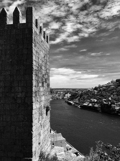 Architecture Built Structure Building Exterior Water Sky Outdoors Day No People Travel Destinations Sea Nature City History Portugal Porto EyeEmNewHere City Architecture The Week On EyeEm Black And White Friday EyeEm Ready   Summer Road Tripping