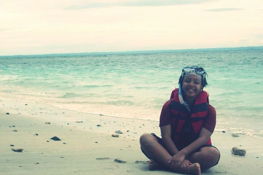 my holiday!!! ^J^ Summer Holidays Beach Pangandaran Beach INDONESIA
