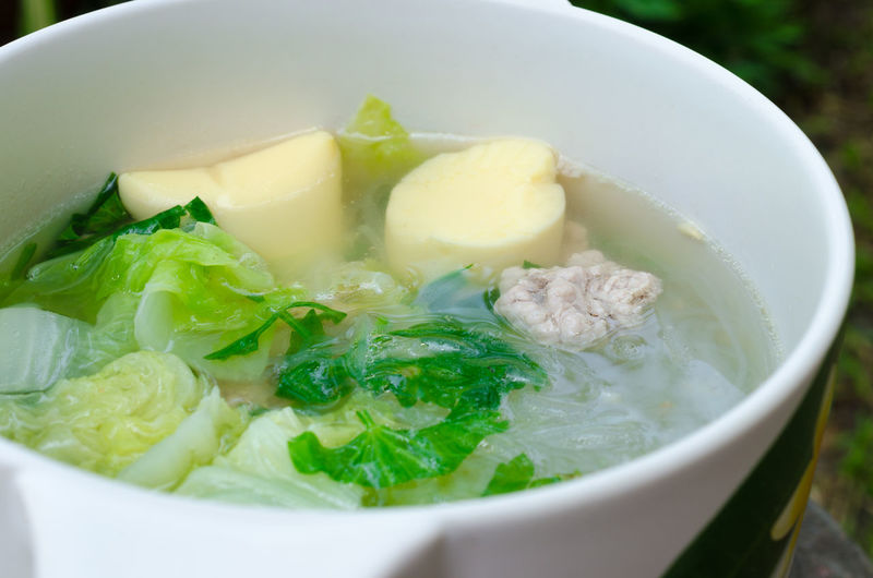 Chinese Cabbage Clear Soup with Bean Curd and Minced Pork Asian Food Bean Bowl Bowling Balls Chinese Food Close-up Curd Day Food Freshness Healthy Eating Indoors  Meal Minced Pork No People Pork Chops Ready-to-eat Soup Soybeans Tofu