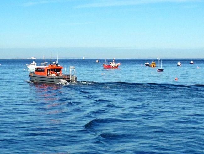 Summer evening sailing Calm Sea Balmy Evening Boats Swanage Seaside Dorset Coast EMCSummerViews