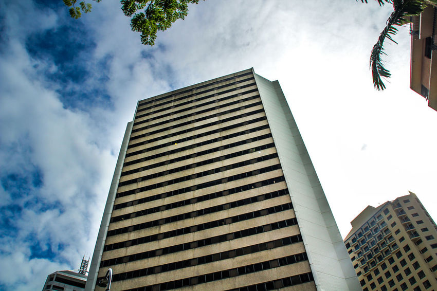 Building on a Brisbane street Architecture Building Business City Cityscape Cloudy Day Downtown Exterior Modern Sky Skyline Urban