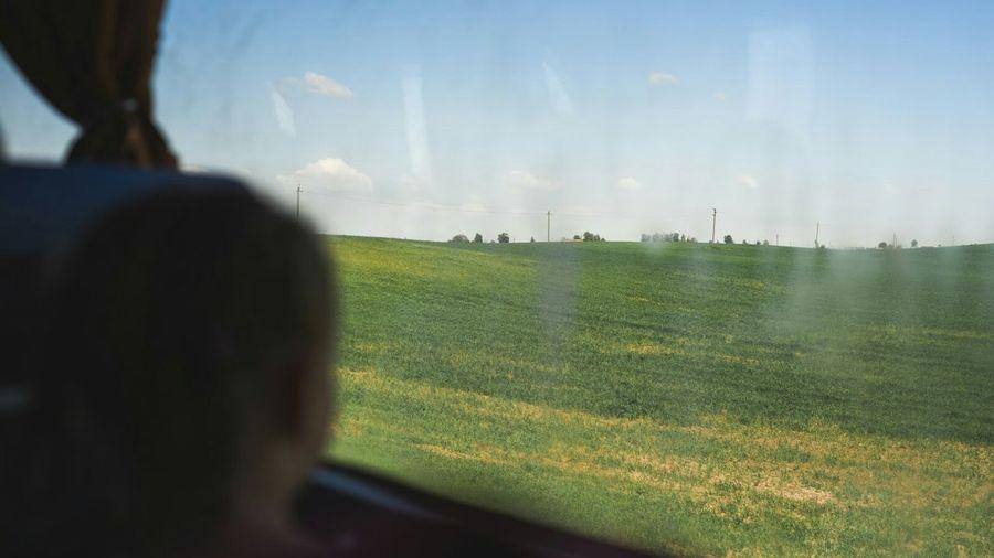 Silhouette Best EyeEm Shot Travel Window Rural Scene Agriculture Field Sky Grass Landscape