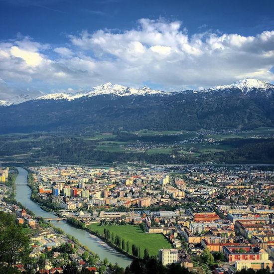 Innsbruck as seen from the Nordkette Aerial View Alps Architecture Austria Cityscape Elevated View Hafelekar Horizon Over Land Hungerburg Inn Innsbruck Landscape Mountain Mountain Range Mountains Nature Nordkette River Seegrube Tirol  Tyrol