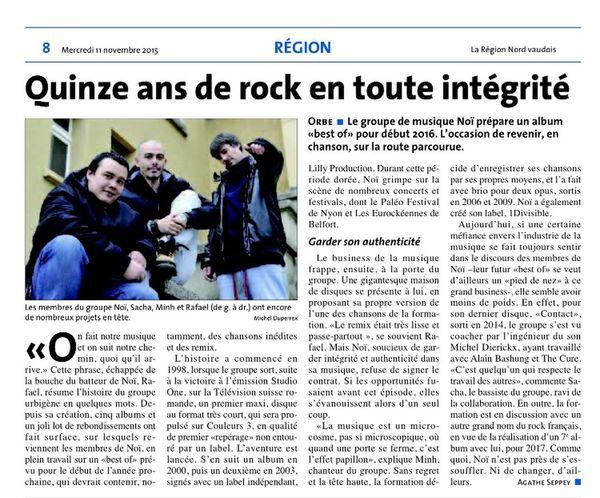 Noï., Noir Desir Article