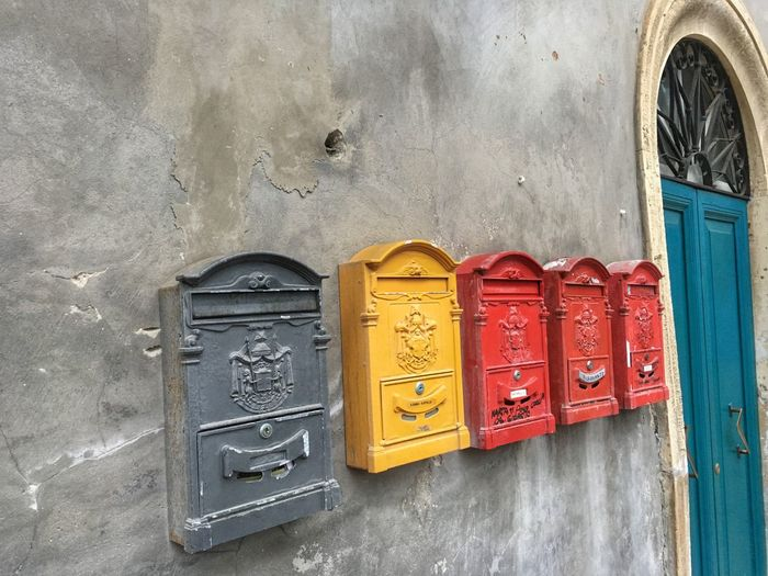 Mailboxes Correnspondence Wall House Grottammare Marche Italy House Colors