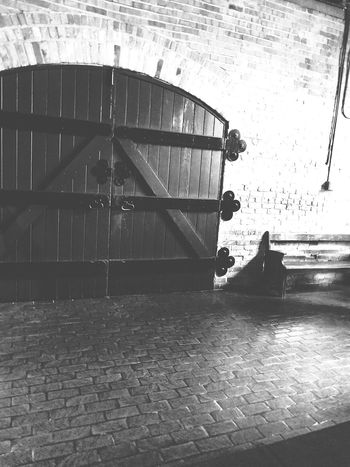 Stables in black and white. Stables Indoors  EyeEm Selects Black And White Ashville North Carolina Old Built Structure