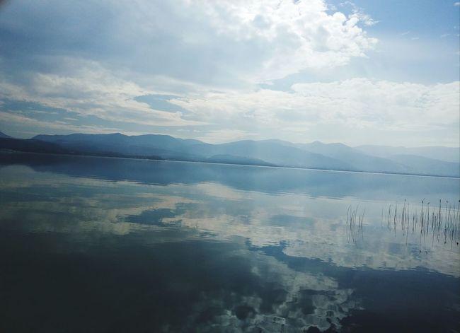 Water Mountain Lake Fog Reflection Sky Landscape Cloud - Sky Go Higher