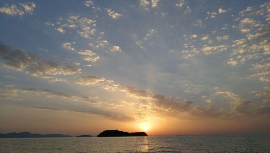 EyeEm Selects Water Sea Sunset Beach Blue Summer Red Horizon Sun Silhouette