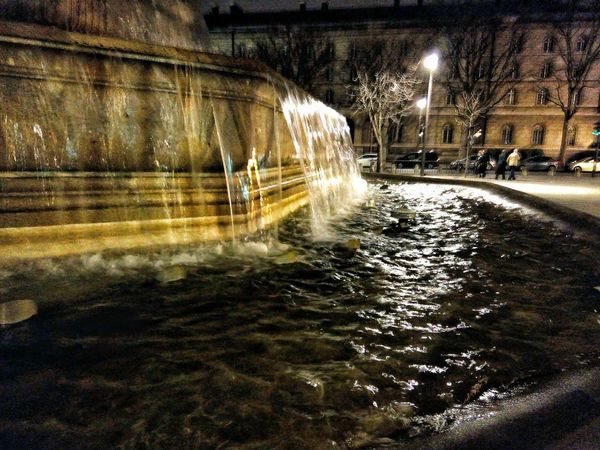 Parisian Chic Paris, France  Architectural Detail Fountain Saint Sulpice Area Nightphotography Running Water Up Close Street Photography The Architect - 2016 EyeEm Awards The City Light Neon Life