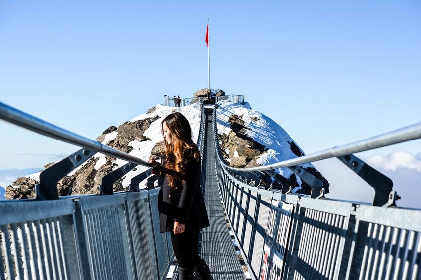 Finding New Frontiers Switzerland Switzerland Alps Switzerlandwonderland Switzerlandpictures Switzerlandmountains Switzerlandtrips Glacier 3000 Sky One Person Snow Sports