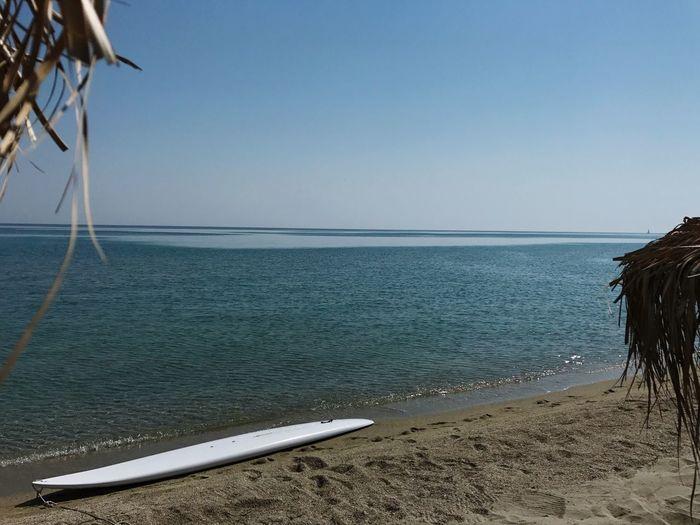 Sea Horizon Over Water Beach Water