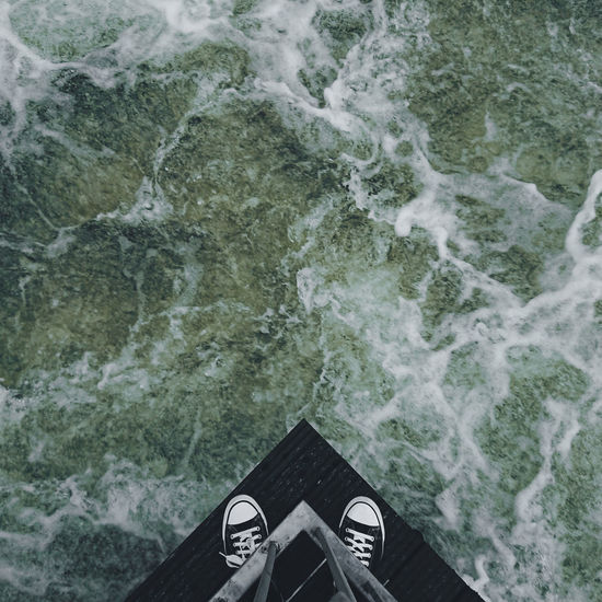 Shoe Directly Above High Angle View Water Outdoors Nature Water A New Perspective On Life