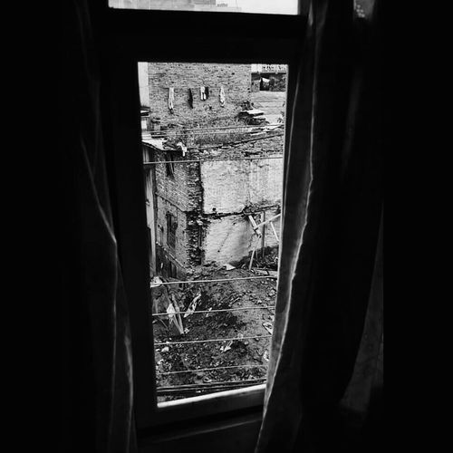 Indoors  Curtain Window View Earthquake EarthquakeNepal Destroyed Destroyed Building Nepal Photography Indoors  Backgrounds No People Tourism Traveling Outdoors
