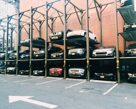 Cars Stacked Up