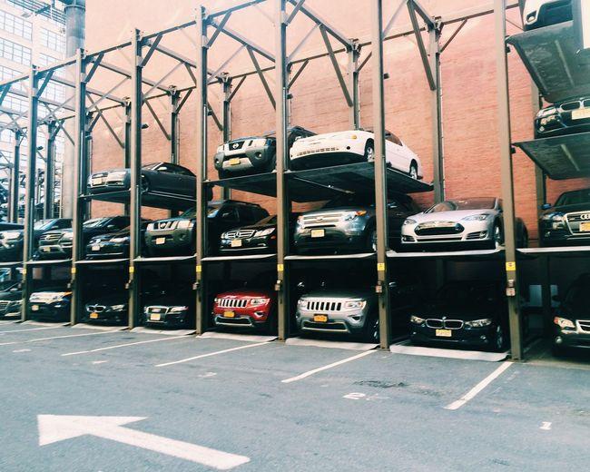 Cars at parking lot