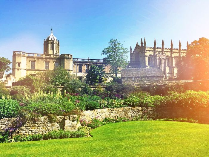 History Outdoors Building Exterior Architecture No People Day Clear Sky Grass Sky oxford