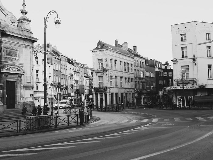 Sint Joost Ten Node Brussels Belgium City Building Exterior Architecture Sky Built Structure Outdoors Travel Destinations No People Day Monochrome Black And White The Street Photographer - 2017 EyeEm Awards The Architect - 2017 EyeEm Awards