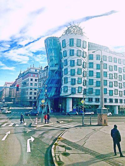 Architecture Built Structure City Life Cloud - Sky Travel Destinations Modern Czech Prague♡ The Dancing Building
