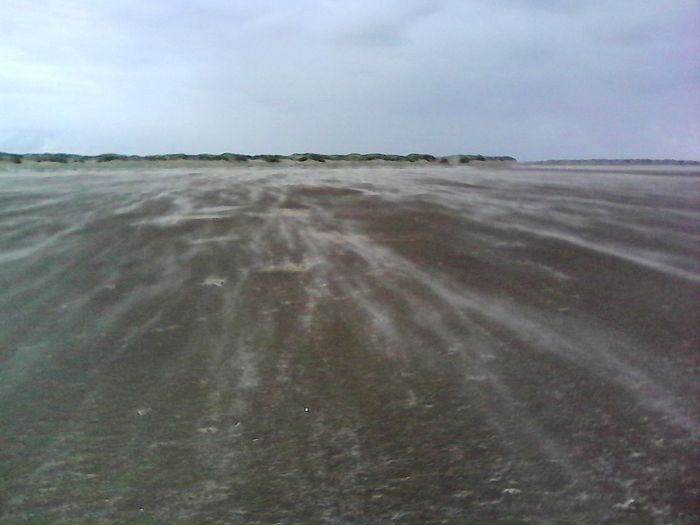 Strom Windy Day Drifts Sandstorm Sand Beach Sky Landscape