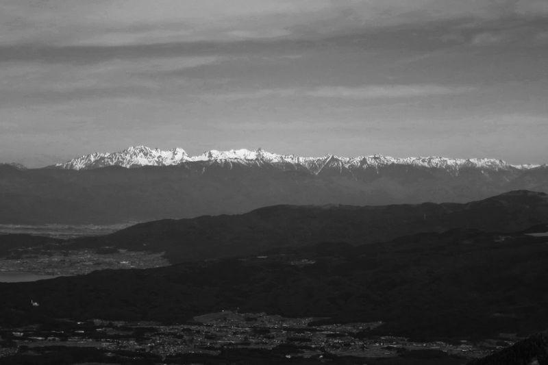 編笠山より望む飛騨山脈 Japan Alps EyeEm Best Shots - Landscape Ararat  Eyeem Monochrome Blackandwhite Mountains Mountain Range Snowcapped Mountain
