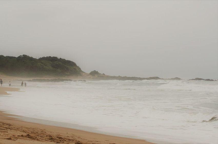 Misty Beach Fog Over Water KwaZulu-Natal Coast Landscape Nature Outdoors Sand Scenics Sea Shore Tranquility