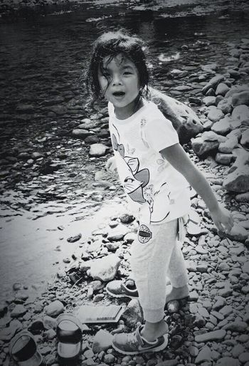 Live To Learn What I Value , Ki Peoplephotography Showing Imperfection Blackandwhite Photography Up Close Street Photography Everybodystreet has his own way , Black & White , Love with Rocks , Rock with Love , Child , Children , Daughter , Learning By Doing , Learning to a nature way , Natural , Stetam , Canal , Playing , eyeem, eyeem gallery, Thailand ,Thai children, Learn & Shoot: Single Light Source Childsplay Light And Shadow The Week Of Eyeem Deceptively Simple Glitch Kids Being Kids Eyemtravelaward2015
