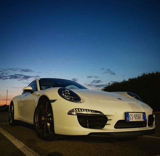 Porsche Car Evening Motorsport Wheels White First Eyeem Photo
