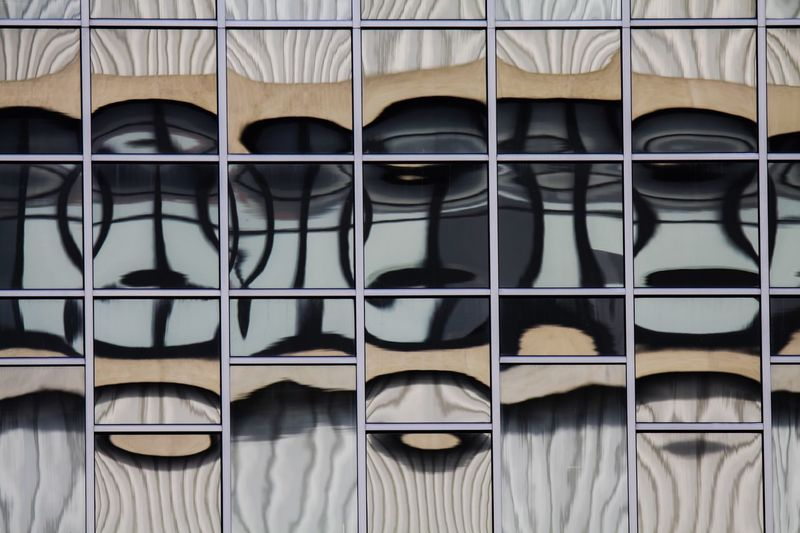 abstract symmetrical horizontal pattern reflection squares in window of skyscraper Architecture Reflection Still Life Shoe Windows Utrecht Choice Order Skyscraper Repetition Arrangement Indoors  Netherlands Group Close-up Variation Side By Side No People Backgrounds In A Row Full Frame Large Group Of Objects Group Of Objects Pattern