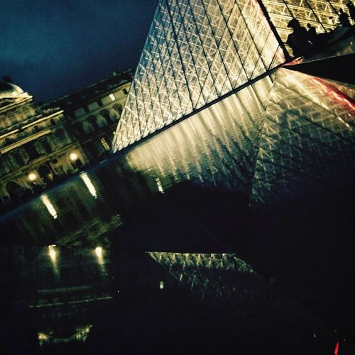 Musée Du Louvre Paris Night Night Lights