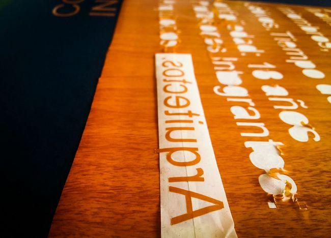 Arquitectos Orange Color Vinil