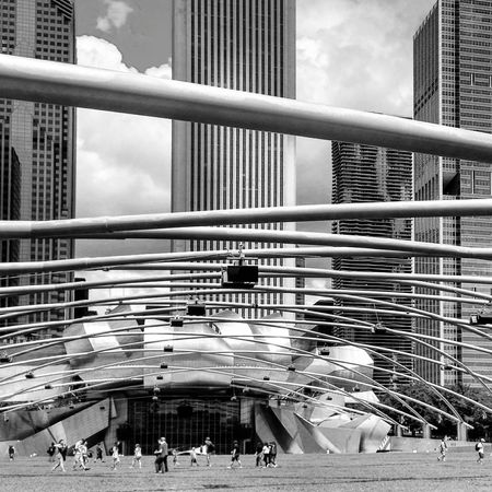 City Architecture Window Built Structure Sky Building Exterior City Life Office Building Cloud Skyscraper Cloud - Sky Day Modern Building Story Engineering Development No People Architecture Low Angle View Iron - Metal Blackandwhite Photography Architectural Feature Gehry Building Monochrome Photography Welcome To Black