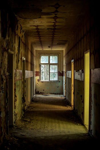 No People Architecture Indoors  Window Abandoned Building Old Run-down Dirt Damaged Ruined Built Structure Obsolete Dirty Ceiling House Bad Condition Absence Home Interior Entrance Dark Deterioration Messy