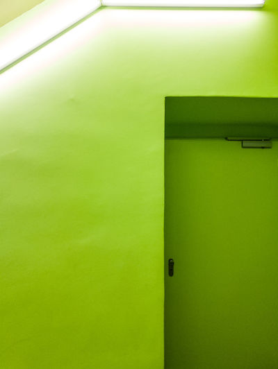 Green Color Architecture Entrance Door Built Structure No People Building Exterior Building Wall - Building Feature Day Copy Space Safety Closed House Wall Security Outdoors Protection Low Angle View
