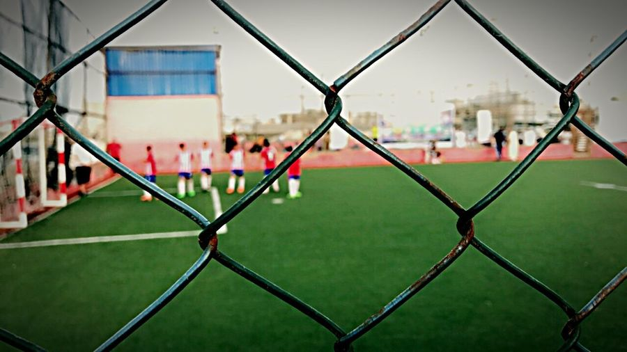 Football Kids Playing Like Stars ✨ Soccer Chainlink Fence Focus On Foreground Love Football